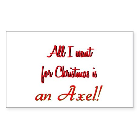 Axel for Christmas Sticker (Rectangle)