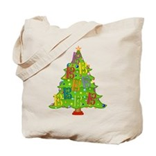 Alto/Tenor Clef Christmas Tote Bag