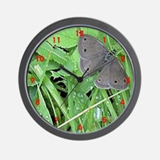 Satyr / Gray Lady Butterfly Wall Clock