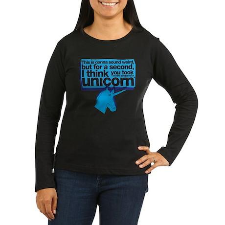 Unicorn Women's Long Sleeve Dark T-Shirt