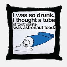 Toothpaste Throw Pillow
