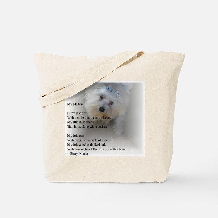 Maltese Poem Tote Bag