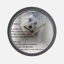 Maltese Poem Wall Clock
