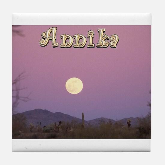 Cute Moon names Tile Coaster