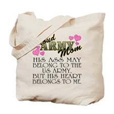 Proud Army Mom - Heart Tote Bag