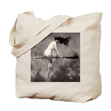 Vintage Nude Witch Tote Bag