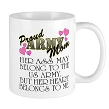 Proud Army Mom - Heart2 Small Mug