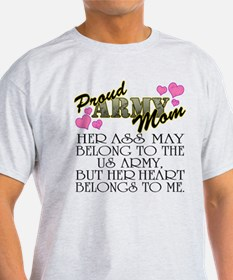 Proud Army Mom - Heart2 T-Shirt