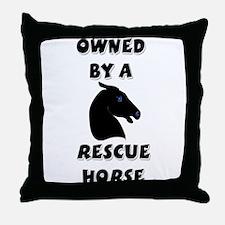 Rescue Horse Throw Pillow