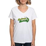 Produced Locally Women's V-Neck T-Shirt