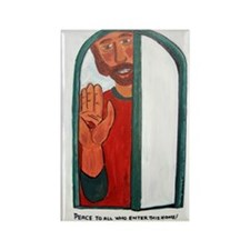 Jesus peace Rectangle Magnet (100 pack)