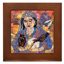Moon Goddess Framed Tile