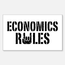 Economics Rules Sticker (Rectangle)