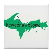 Keweenawesome Tile Coaster