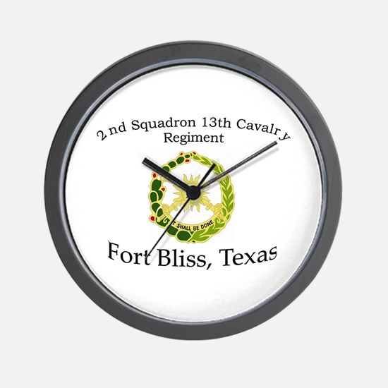 2nd Squadron 13th Cavalry Wall Clock