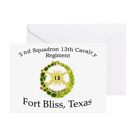 2nd Squadron 13th Cavalry Greeting Cards (Pk of 10
