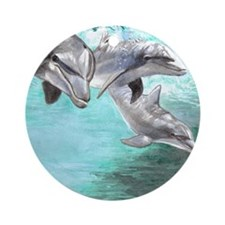 Dolphins Ornament (Round)