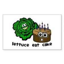 Lettuce Eat Cake - Decal