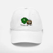 Lettuce Eat Cake - Baseball Baseball Cap