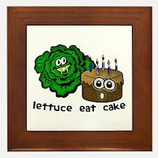 Lettuce Eat Cake - Framed Tile