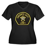 Day County Sheriff Women's Plus Size V-Neck Dark T