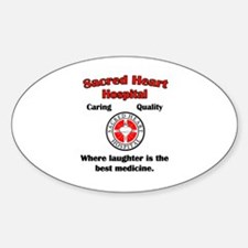 Sacred Heart Sticker (Oval)