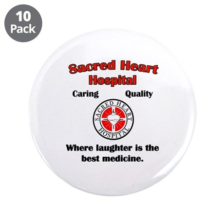 "Sacred Heart 3.5"" Button (10 pack)"