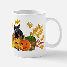 Black Cat Pumpkins Mug