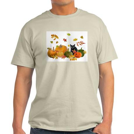 Black Cat Pumpkins Light T-Shirt