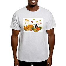Black Cat Pumpkins T-Shirt