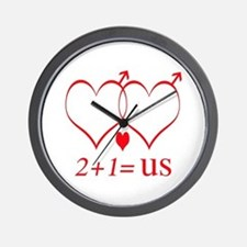 Same Sex Couple With Child Wall Clock