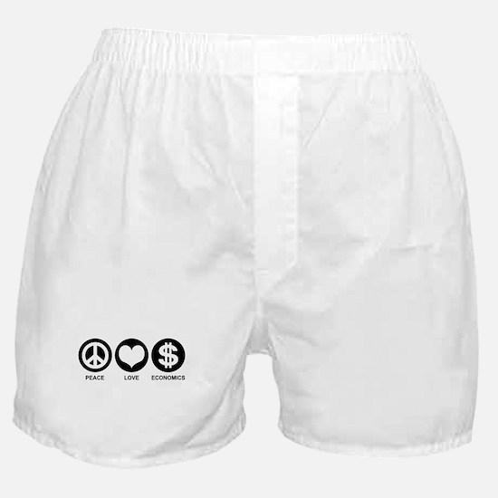 Peace Love Economics Boxer Shorts