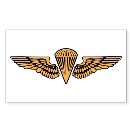 Marine Corps Jump Wings (Airb Sticker (Rectangle)