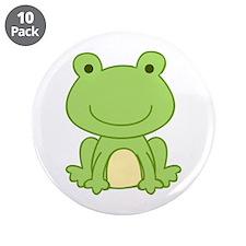 "Laguna Frog 3.5"" Button (10 pack)"