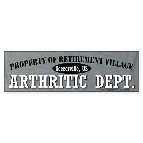 Property of Retirement Village Arthritic Dept.