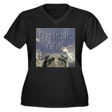Dyslexic Women's Plus Size V-Neck Dark T-Shirt