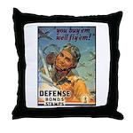 We'll Fly Em Pilot Throw Pillow