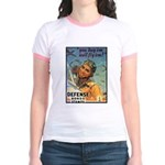 We'll Fly Em Pilot (Front) Jr. Ringer T-Shirt