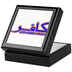 Proud Kafir (Infidel) Keepsake Box