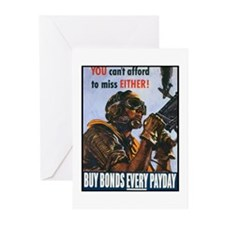 Gunner Buy Bonds on Payday Greeting Cards (Package