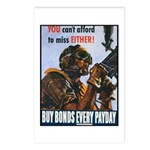 Gunner Buy Bonds on Payday Postcards (Package of 8