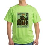 Gunner Buy Bonds on Payday (Front) Green T-Shirt