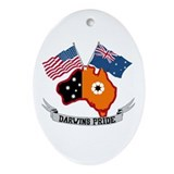 Air force guam Oval Ornaments