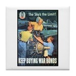 Sky's the Limit Poster Art Tile Coaster
