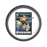 Sky's the Limit Poster Art Wall Clock