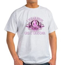 I Wear Pink for my Great Grandma (floral) T-Shirt