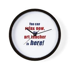 Relax, art teacher here Wall Clock