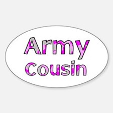 Army Cousin Pink Camo Oval Decal