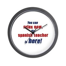 Relax, spanish teacher here Wall Clock