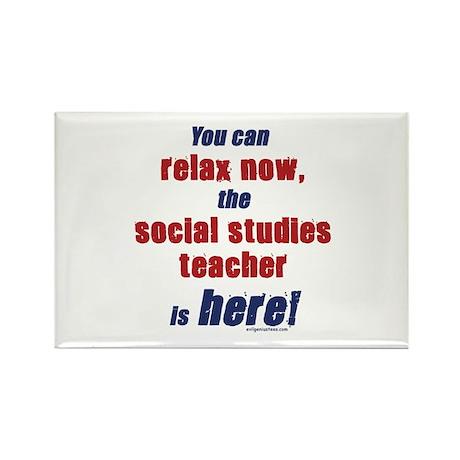 Relax, social studies teacher here Rectangle Magne